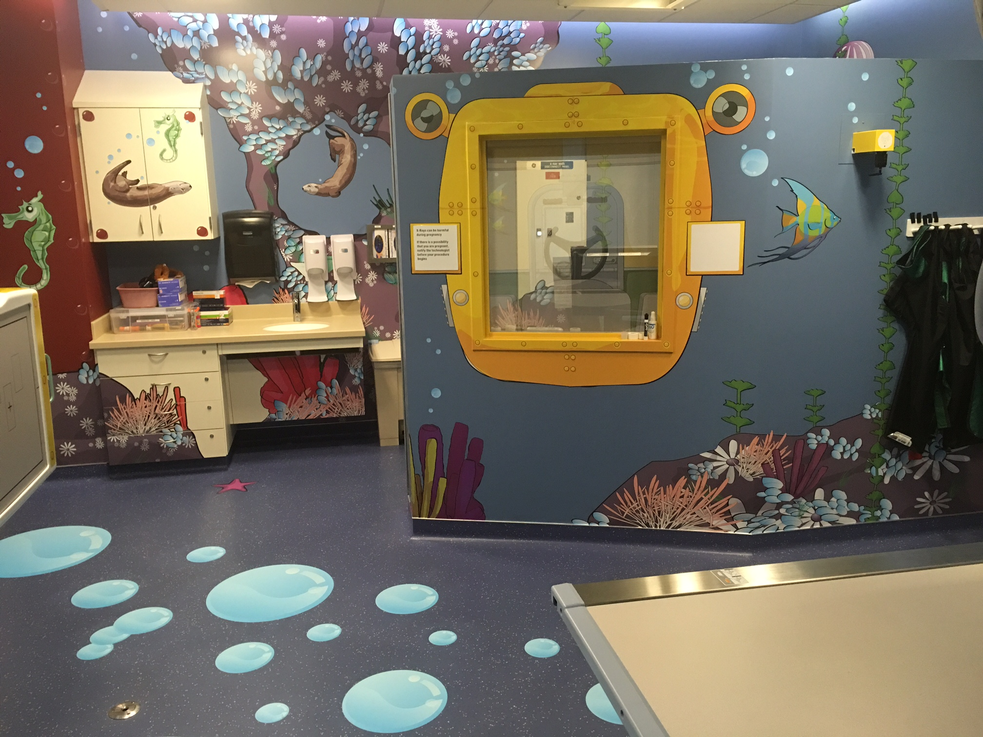 Themed imaging rooms help children navigate the health care experience at UCSF.